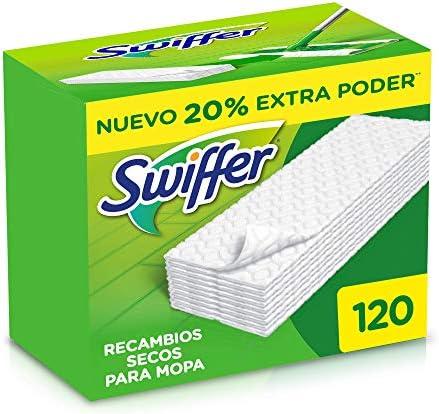 Swiffer – Recambios secos Mopa, 120 unidades