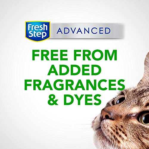 Fresh Step Advanced Simply Unscented Clumping Cat Litter, Recommended by Vets, 37 lbs Total ( 2 Pack of 18.5 lb Boxes)