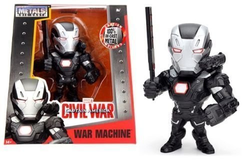"NEW JADA MARVEL'S CAPTAIN AMERICA: CIVIL WAR (2016) MOVIE - 6"" Metal DieCast (Die-Cast) WAR MACHINE Action Figures By Jada Toys"