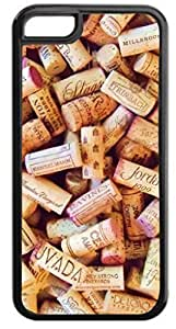 Wine Corks Pattern - Iphone 5C plastic BLACK case - compatible with iPhone 5C only - CHOOSE YOUR COLOR Kimberly Kurzendoerfer