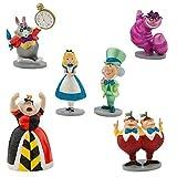 Disney Alice in Wonderland Figure Play Set 6 pieces w/Glitter accents Exclusive