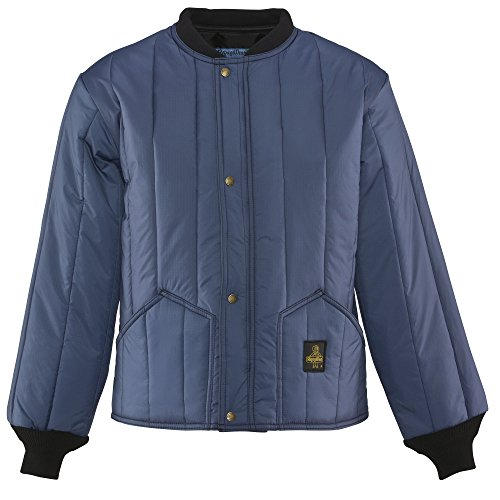 RefrigiWear Men's Cooler Wear Workwear Jacket, Navy Medium
