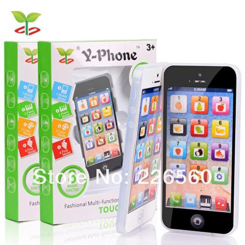 Heaven 2 Pack of Child's Interactive My First Own Cell Phone – Play to learn, touch screen with 8 functions and dazzling LED lights.(2)
