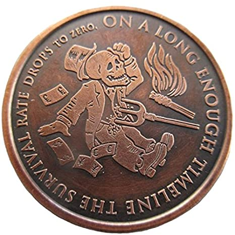 "/""End of the Line/"" 1 oz .999 Copper Round 2016"