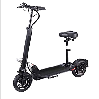 Smart Electric Scooter,Fold Adult Travel Scooter Dual disc Brake one Button Remote Control Fast Charging Adjustable Handlebars with LED Lighting Unisex Outdoor Ride