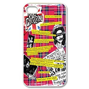 Pop Band Poster Sex pistols Hard Plastic phone Case Cover For Iphone 4 4S case cover FAN306102