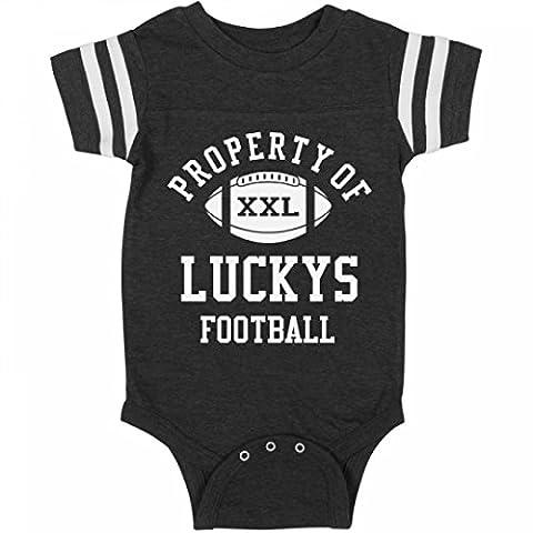 Property Of Luckys Football:Infant Rabbit Skins Football Bodysuit