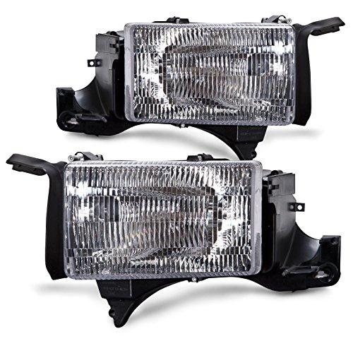 Headlights Depot Replacement for Dodge Ram Truck New Headlights Set Headlamps Pair w/Headlight (Doge Ram)