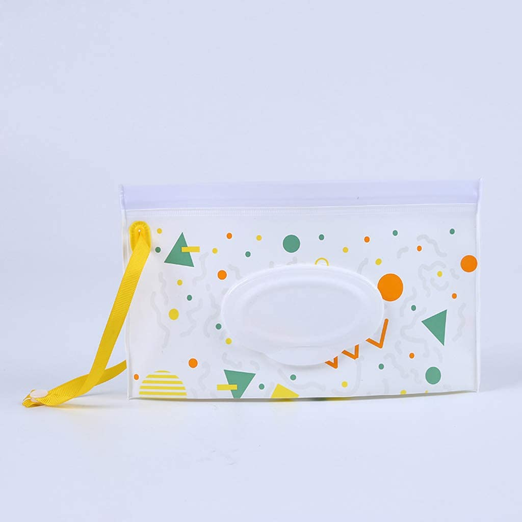 FATTERYU Eco-Friendly Easy-carry Wipes Container EVA Wet Wipes Bag//case Flip Extraction Portable Wet Wipes Cover for Stroller