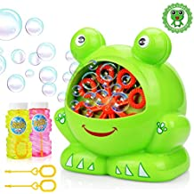 Bubbles Hurricane Machine, Betheaces Toys for Kids Boys Girls Age of 4,5,6,7,8-16 Durable Bubble Maker 500 Bubbles per Minute for Outdoor and Indoor Use with Bubble Solution (2*120ml)