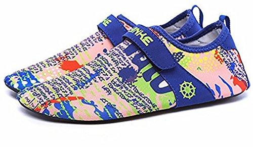 Wonvatu Mens Womens Fashion Durable Sohle Barfüßigwasser Wasser Schuhe Für Beach Swim Drive Yoga Surf Karte