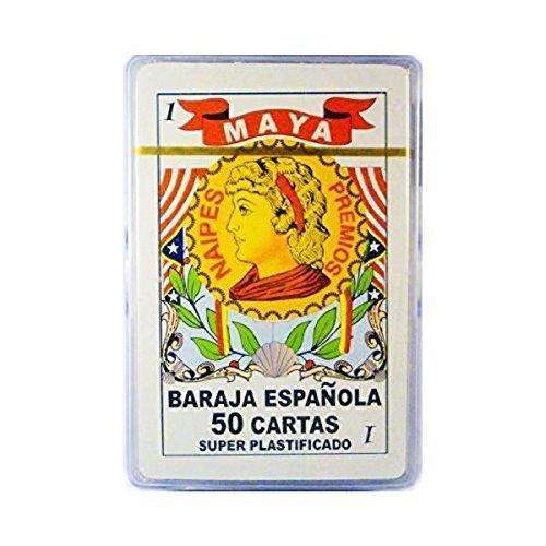 Maya Wrap Barajas Espanolas En Caja Plastica, Spanish Playing Cards, Plastic Case