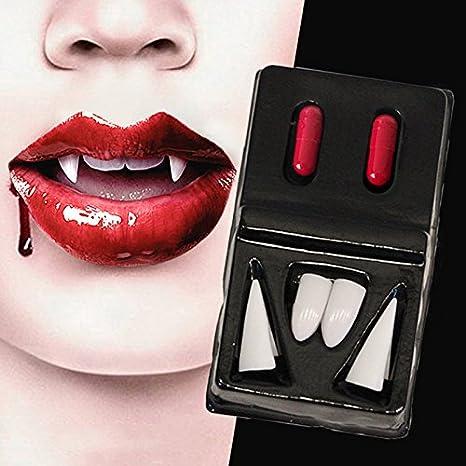 2 accoppiamenti di vampiro dentali denti durovolo durocrosi denti lupo  décolleté plastica sexy protesi taglienti dentiere a534cefc5cd2