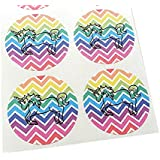 Unicorn Stickers by Once Upon Supplies, Rainbow Chevron...