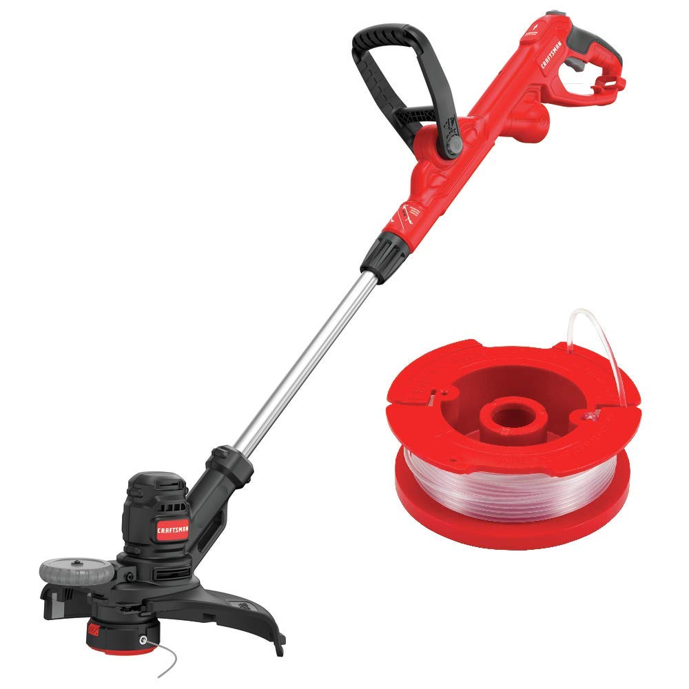 CRAFTSMAN CMESTE920 6.5Amp Electric String Trimmer w/Push Button Feed System with CMZST065 .065'' Replacement Spool