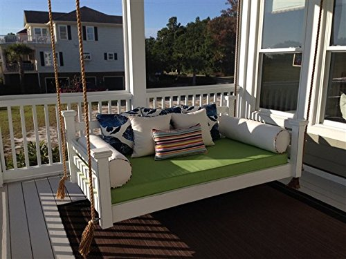 Custom Carolina The Elegant Charleston Porch Swing, Twin, White