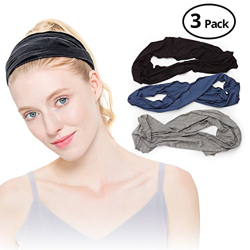 Dread Hair Band (HBY Mens Womens Elastic Bandana Headband Long Hair Dreads Head wrap)