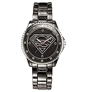 Superman Watch (Gun Metal Stainless Steel SUP8005)
