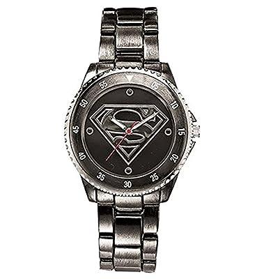 Superman Watch (Gun Metal Stainless Steel SUP8005)