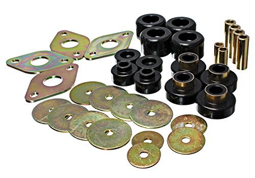 Energy Suspension 8.4109G Body Mount Set Black Performance Polyurethane Body Mount Set
