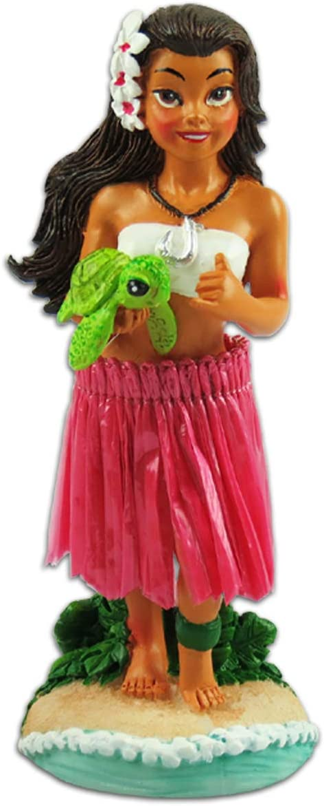 KC Hawaii Napua Honu Hula Girl Miniature Dashboard Doll
