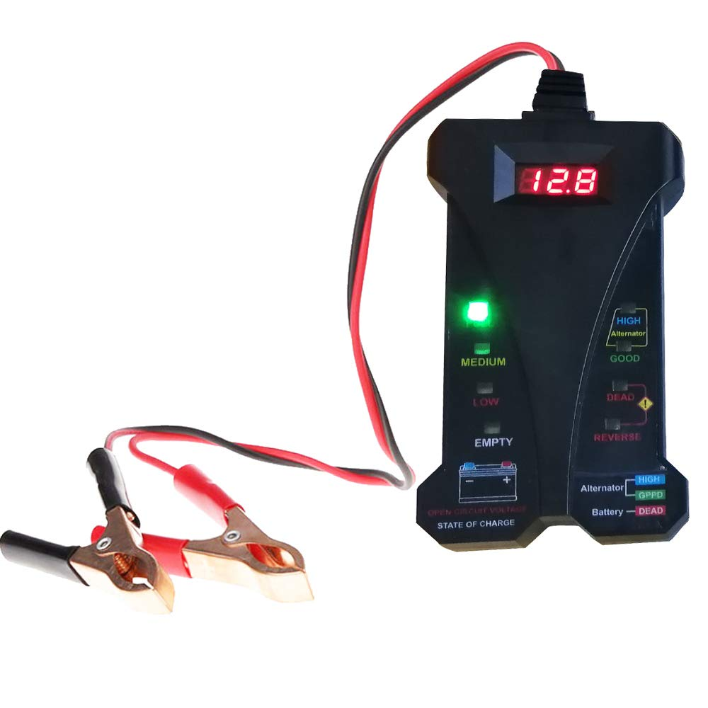12V Digital Car Battery Tester Alternator Tester Charging System Analyzer Diagnostic Tool cleanpower