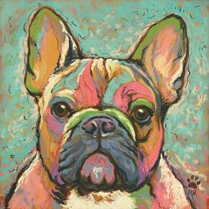 amazon com orlco art colorful dog paintings animal canvas paintings