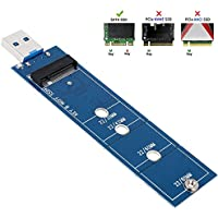 QNINE M.2 to USB Adapter, B Key M.2 SSD Adapter USB 3.0 (No Cable Needed), USB to 2280 M2 SSD Drive Adapter, NGFF Converter Reader Card