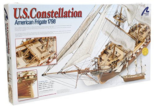 Artesania Latina 22850 1/85 US Frigate 1798 Constellation Model Building (Artesania Latina Model Ships)