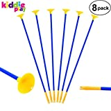 Kiddie Play Replacement Arrows for Kids Bow and Archery Set Toy Arrows with Suction Cups 20' (8 Pack)