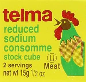 Telma Chix Consommé Cube, 1/2-ounces (Pack of 12)