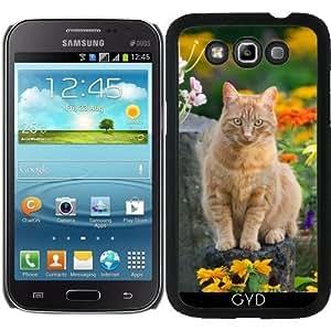 Funda para Samsung Galaxy Win GT-I8552 - Gato Del Jengibre En Un Jardín by Katho Menden