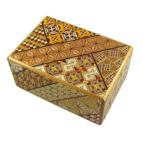 Open Japanese Puzzle Box - 4 Sun 21 Steps - Japanese Puzzle Box