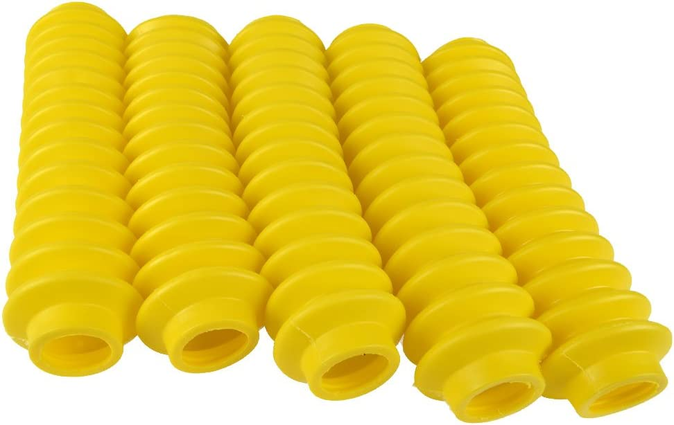 1 Yellow Shock Boot w//Clamp Fits Any Standard Shock 87148 Shock Boot Rough Country