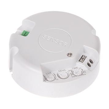 Maclean - Mce139 - detector de movimiento por microondas de techo 360°: Amazon.es: Bricolaje y herramientas
