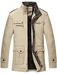 Men's Zip Trench Military Jacket
