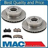 Mac Auto Parts 18264 1990-2002 Astro All Wheel Drive 4x4 Front Brake Disc Rotors & Ceramic Pads 3Pc