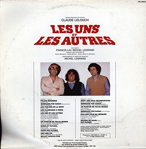 Francis Lai & Michel Legrand - Les Uns Et Les Autres - Pro-Culture - PPC 26002 VG++/VG++ LP