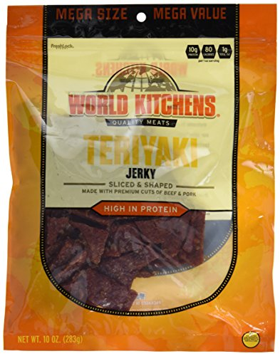 World Kitchens Jerky, Teriyaki, 10 Ounce
