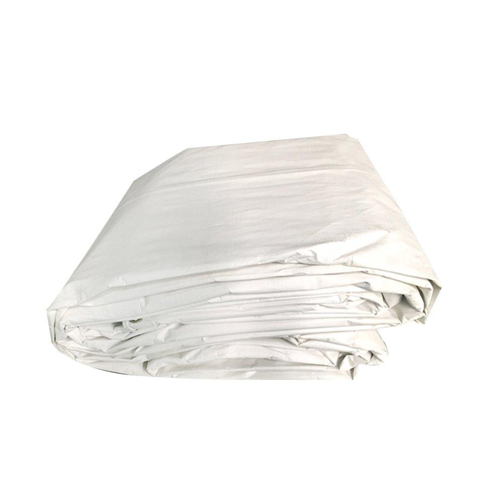 PENGFEI オーニング 防水 屋外 農業 日焼け止め トラック 防塵の シェード 耐高温性 耐腐食性、 白、 厚さ0.3MM、 160 g / m2、 9サイズ ( 色 : 白 , サイズ さいず : 6X6M ) B07C92G5P4  白 6X6M
