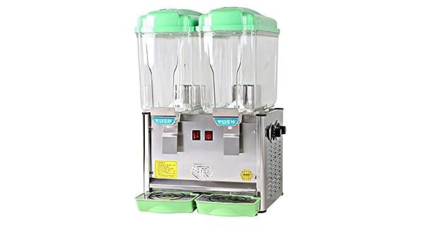 TZ dispensador de zumo comercial dispensador de bebidas, dispensador de bebidas frías espiga de dos 9 gallon fruta té helado con fría y caliente botón, ...