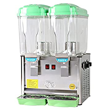 TZ dispensador de zumo comercial dispensador de bebidas, dispensador de bebidas frías espiga de dos