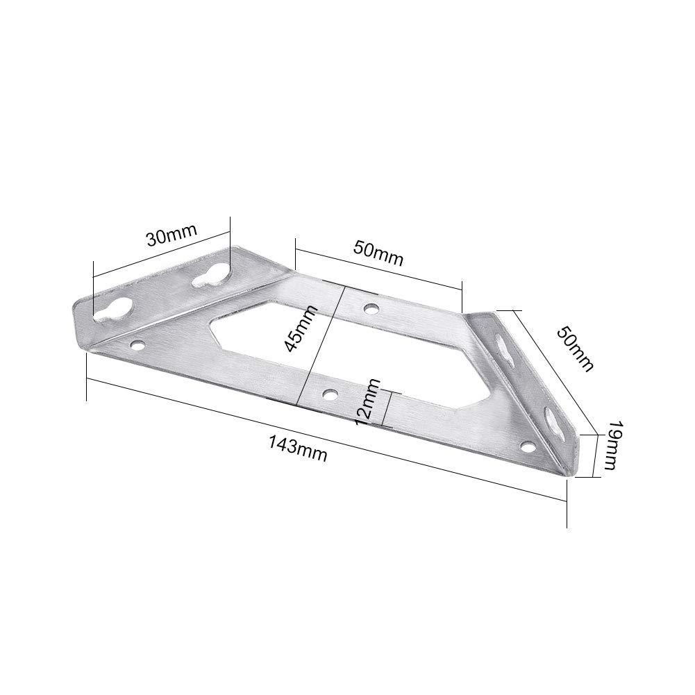 soportes de esquina de acero inoxidable trapeziform /ángulo soportes multiusos estante soporte estanter/ía para silla de madera INCREWAY 2 piezas c/ódigo de /ángulo tablero y mueble de ventana