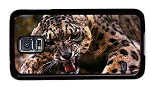 Hipster pretty Samsung Galaxy S5 Cases Angry Leopard PC Black for Samsung S5 by supermalls