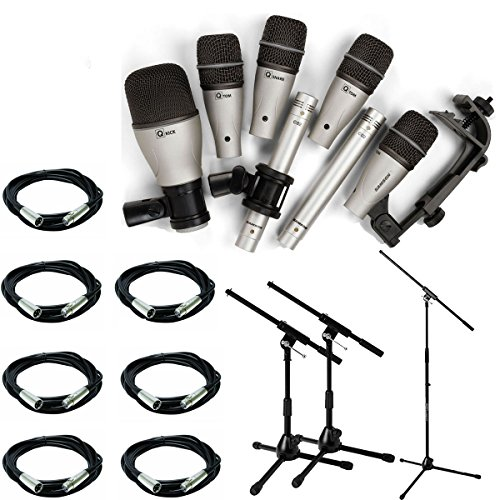 samson-7kit-7-piece-drum-microphone-kit-with-7-20-xlr-cables-mic-stand-2-kick-stands