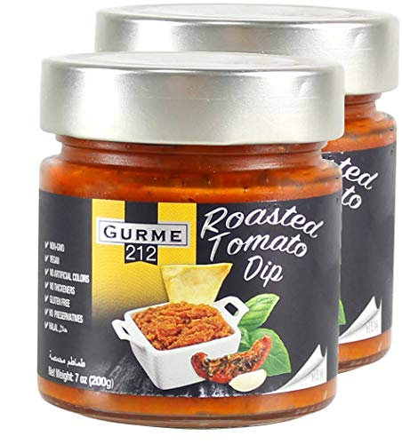 Gurme212 Roasted Tomato Dip Spread or Sauce, Non-GMO, No Additives 7 oz (2-pack)