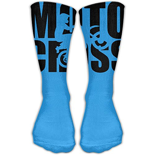 Motocross Evolution Unisex Performance Crew Socks Protect The Wrist For Cycling Moisture Control Elastic Socks 11.8inch