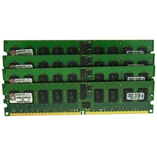 Kingston KVR667D2D8P5/2G 4x2GB PC2-5300 DDR2-667mhz 240-Pin ECC Memory Server Pack of 4 ()