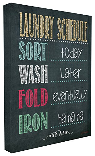 The Stupell Home Decor Collection Laundry Schedule Chalkboard