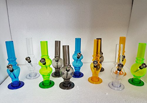 5-6 Inch Acrylic Water Bong - Various Colours and Designs.